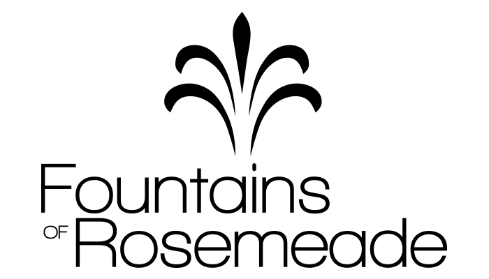 Fountains of Rosemeade Logo, Link to Home Page