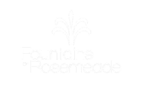 Fountains of Rosemeade Logo, Link to Home